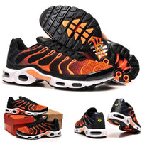 air max plus - trainers Sports maxes Plus TN Shoes Airs Men s Shoes Black Orange Kids shoes