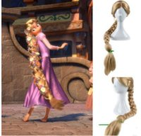 Wholesale New Movie Tangled Princess Rapunzel Wig Extra Long Blonde Braid Synthetic Anime Cosplay Wig braided hair