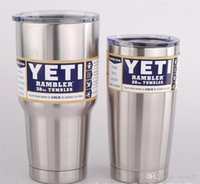Wholesale Cheapest best quality Yeti oz oz Cups Cooler YETI Rambler Tumbler Travel Vehicle Beer Mug Double Wall Bilayer Vacuum Insulated