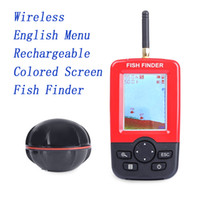 Wholesale English Menu Portable Fish Finder with Wireless Rechargeable Sonar Sensor for Lake Sea Fishing Fishing Tools X AAA Batteries Antenna
