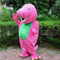 barneys sales - 2016 hot sale pink barney fur Mascot Cartoon Costume Fancy Dress Quick Delivery Factory Direct