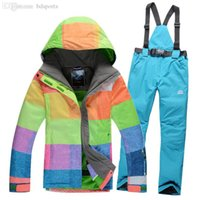 Wholesale Brand New Women s Ski Suits Snowboard Female Winter Hiking Jacket Pants Plus Size Skiing Clothing For Women Drop
