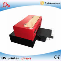 Wholesale LY A41 Mini colors nozzle print size x260x30mm flatbed UV Printer Max resolution DPI free tax to RU EU