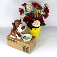 money box - Digital Coin Box Dog Eating Stealing Piggy Bank Puppy Coin Box Plastic Kids Bank Money Automated Saving Box Tirelire Enfant