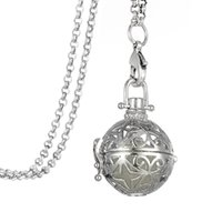 antiqued white - 10pcs Filigree Magic Locket Antiqued Silver Plated Cage Essential Oil Diffuser Steampunk Necklace Jewelry A127685