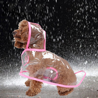 Wholesale High Quality Transparent PVC Pet Coat Dress Dog Rain Coat Raincoat Summer Style Pets Products Roupa Para Cachorro Pets