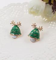 bell earring backs - 2016 New Fashion Women Santa Claus Snowman lovely Tree Bell Christmas Jewelry Christmas Earring For Women Gifts