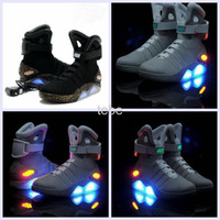 aka free - 2016 Air Mag AKA Marty McFly Basketball Shoes Back To The Future Glow In The Dark Sole Mag Limited Edition Sneaker Led Lights