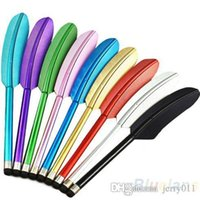 Wholesale Feather Universal Capacitive Stylus Touch Screen Pen for iPhone S Samsung S4 Tablet PC Cell Phone N4V