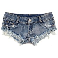 Wholesale New Summer Bull puncher Knickers Women s Fashion Sexy European And Us Wind Nightclub Super Short Shorts Triangle Jeans
