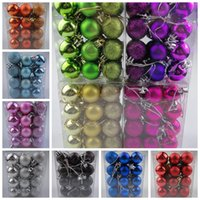 Wholesale 1 Set Balls Christmas Tree Decorations cm Balls XmasTree Decorations Christmas Ornament