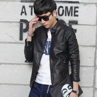 Wholesale And leather men s classic fashion leisure leather coat cultivate one s morality men coat collar fur coat