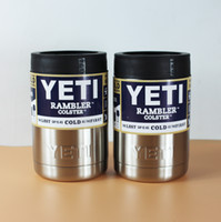 Wholesale Hot Sale oz Can Yeti Stainless Steel Colster Yeti Coolers Rambler Colster YETI Cups Cars Beer Mug Insulated Koozie