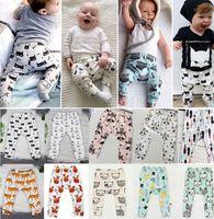 Wholesale Baby INS PP Pants design baby toddlers animal fox tent wheels geometric figure pants trousers Leggings Lemon Haroun Pants KKA863