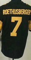 Wholesale Steelers Ben Roethlisberger Rush Jerseys Black Steelers Jerseys New Season Rush Jerseys Antonio Brown Rush Jerseys
