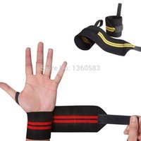 Wholesale 10Pair Gym Weightlifting Training Weight Lifting Gloves Bar Grip Barbell Straps Wraps Wrist Support Hand Protection colors