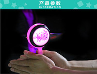 Wholesale 5pcs LED Baby Shaking Drum Hot Selling Cute Cartoon Pattern Baby Drums Classic Baby Toys Rattle Drum