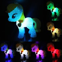 Wholesale Colorful Cartoon Horse Lamp Night Light Changing Colors Child Kids Sleeping Novelty Light up Toys Christmas Gift