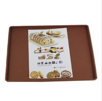 Wholesale Fashion flexible soft silicone pad baking sheet cake pan mold cookie cooking omelets Brand New Good Quality