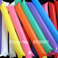 Wholesale 8 Colors PP Inflatable Stick Air Bang Lala Rods Cheering Stick Halloween Cheering Toys Noise Maker Party Match Gift