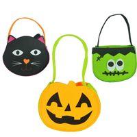 Wholesale Halloween bags Gift bags Handhold Ghost Black Cat Halloween Pumpkin Bag Kids Candy Gift Bag