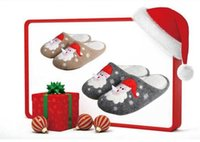 Wholesale New Christmas Slippers Christmas Decoration Santa Claus Warm Slippers Winter Home Cashmere Suede Slippers Colors