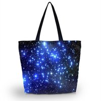 bags sop - Blue Stars Soft Foldable Tote Women s Sopping Bag Large Capacity Girl s Travel School Handbag Pouch Light Weight Washable