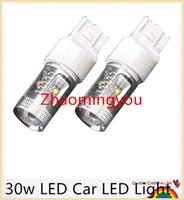 Wholesale 10 Pieces w White Canbus Error Free Cree P21W BA15S LED Car Turn Signal Stop Light Bulb