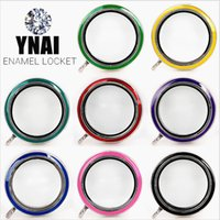 Wholesale Mix Colors mm Round Colorful Photo Magnetic Glass Living Memory Floating Locket Pendant