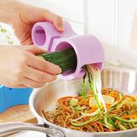 Wholesale Spiral Cutter Sharpener Knife Fruit vegetable Slicers Kitchen Tools Multi Function Graters Color for Choose