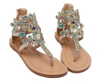 apartment cover - Summer fashion sexy rhinestone thong sandals slippers elegant woman outdoor apartment pretty high quality flat shoes
