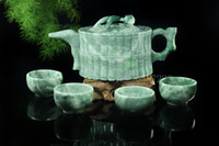 bamboo certificate - Kaixiang jade Guizhou jade tea bamboo pot kung fu tea teapots jade cup wine set gift certificate of The fine carving material excell