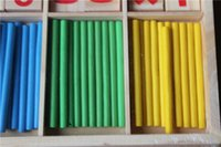 Wholesale 2016 New Baby Children Wooden Counting Math Game Mathematics Toys Kids Preschool Education Intelligence Stick Figures Box ZD023C