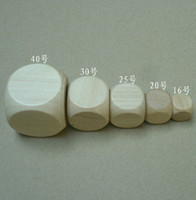 Wholesale 16mm Blank Sided Dice Bosons Wooden Dice Special Purpose Dice DIY Processing Dice Small Gift Game Dice Good Price High Quality B1