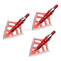 Wholesale New Hot Seller Broadheads Grain Red Hunting Arrow Heads Archery Blade blade arrow