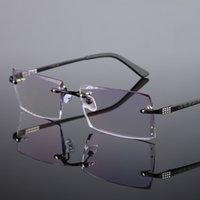 Wholesale The new male frameless diamond cutting titanium alloy