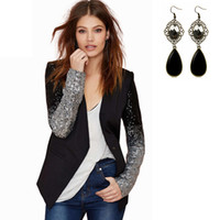 Wholesale Women s Slim Blazer Suit Fashion Womens Lady Sexy Slim OL Blazer Jacket Coat Blazer Casual Suit Outwear