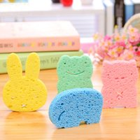 Wholesale cartoon baby bath brushes infant shower rubbing cute animal elephant frog rabbit bear newborn soft sponge eco friendly baby accessories