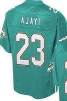 Wholesale Miami Jay Ajayi Pro Line Team Color green Elite jersey size small S xl top quality