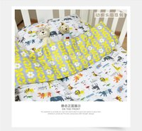 Wholesale INS Popular Cartoon Animal Fruit Baby Cot Crib Bedding Set Quilt Cover Bed Sheet Pillowslip Pillowcase Boy Girl Kit Cotton Nursery Set