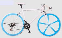 fixed gear - 2016 selling High carbon steel Variable speed double V brake road racing bended Wheel size Bicycle Partsretail road bike