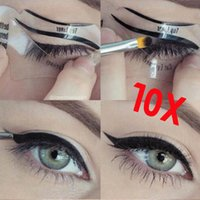 beauty models - 2016 Styles Beauty Cat Eyeliner Models Smokey Eye Stencil Template Shaper Eyeliner Makeup Tool
