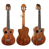 acacia bag - Discount personality Electric box Tenor ukulele small guitar inches Acacia wood four strings Ukulele Gig Bag