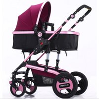 bb landscape - High Landscape Baby Stroller Can Sit and Lie the Shock Four Round BB Baby Stroller Bidirectional Folding Cart