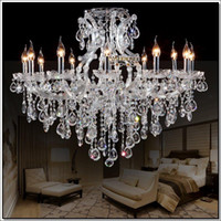 big light project - Best selling clear crystal chandelier Deckenleuchten big glass cristal chandelier light fitting Project Lighting with light D980mm H750mm