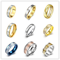 Wholesale Hot L stainless steel finger ring size fashion jewelry mixed style Top Quality