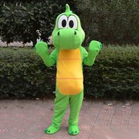Wholesale Professional high quality adult sizeGreen dragon Dinosaur mascot costume suit fancy dress party Cosply costumes