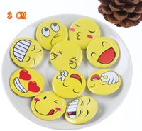 baby badge - Funny Face Pretty New Baby Children Emoji Brooch Resin Smiling Face Brooch Pin Gift Unisex Expression CM Badge