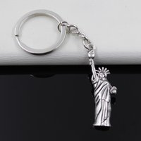 animal man statue - Fashion diameter mm Key Ring Metal Key Chain Keychain Jewelry Antique Silver Plated statue of liberty new york mm Pendant