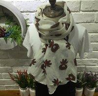 Wholesale New style scarfs for children cartton Children s Linen scarfs hemp bear scarf Autumn fashion accessories kids scarves